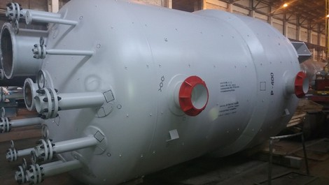 Vessel for preparation of solution of diatomite R-400